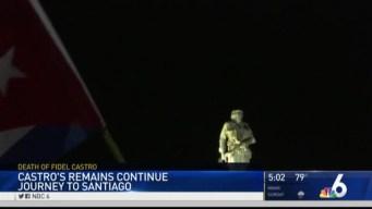 Castro's Remains Continue Journey to Santiago