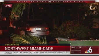 Car Crashes Through Wall Near NW Miami-Dade Home