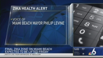 Final 'Zika Zone' on Miami Beach Expected to Be Lifted Friday