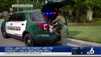 Law Enforcement Agencies Stage Child Abduction Training Drill to Prepare For Possible Incident