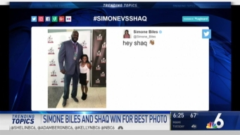 Photo of Shaq, Simone Biles Sweeping The Internet