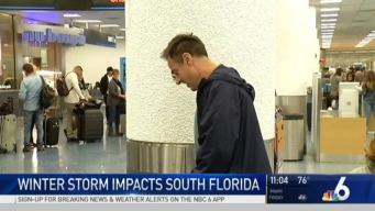 Travelers Being Stranded in South Florida After Northeast Storms