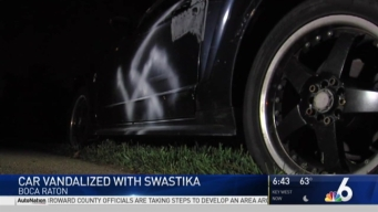 Swastika Found Painted on Car in Boca Raton Neighborhood
