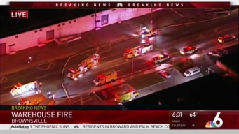 Crews Dealing With Warehouse Fire in NW Miami-Dade