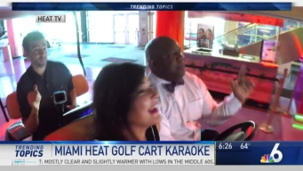 ON THE MIC: NBC 6 Anchors Take Part in 'Golf Cart Karaoke'