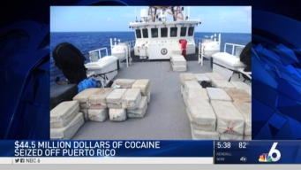 $44.5M in Cocaine Seized By Coast Guard Near Puerto Rico