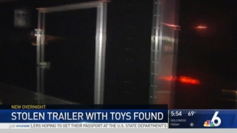 Police Recover Stolen Trailer With Toys For Kids With Cancer in North Miami
