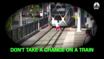 Teen Narrowly Escapes Oncoming Train