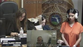 Miriam Rebolledo Appears in Bond Court