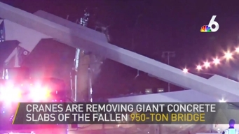 Crews Clearing Rubble After Deadly Pedestrian Bridge Collapse