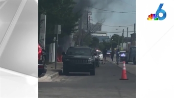 RAW VIDEO: Cars Catch Fire in Wynwood