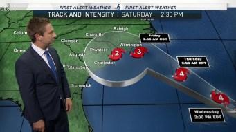 Hurricane Florence Advisory - 8 AM Septmeber 12th