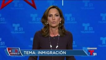 Candidatos hablan sobre la inmigración