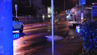 Pedestrian Killed By Tanker Truck in Miami