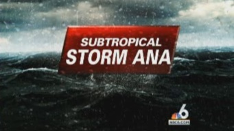 Subtropical Storm Ana Forms