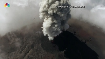 Drone Captures Incredible Footage Above Active Volcano