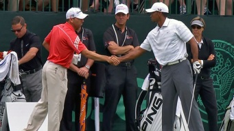 Woods, Garcia Don't Connect Beyond Handshake