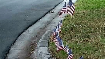 Flag Memorial for Conn. Victims Stolen in Coral Springs