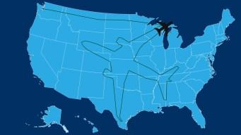Boeing 787-8 Dreamliner Takes Unique Flight Path