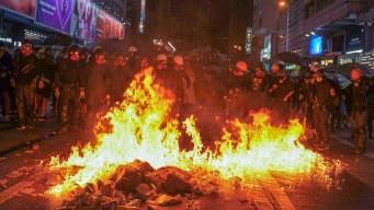 Hong Kong Police Storm Subway With Batons as Protests Rage