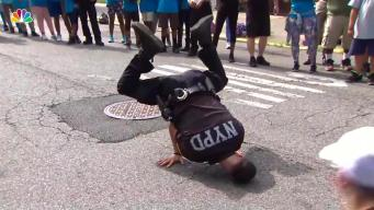 Brave NYPD Cop Shows Crowds His Break Dancing Skills