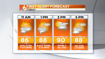 Forecast: Afternoon Storms