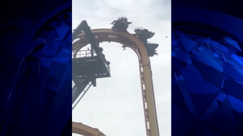 Watch: Riders Left Stranded Atop Texas Six Flags Ride