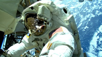Astronauts Go Spacewalking to Give New Hand to Robot Arm
