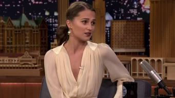 'Tonight': Alicia Vikander Talks 'Tomb Raider'