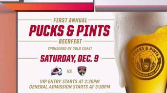 Florida Panthers Host Pucks and Pints