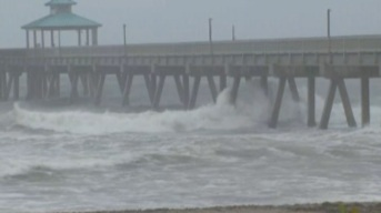 Deerfield Beach Pier Damaged by Hurricane Matthew