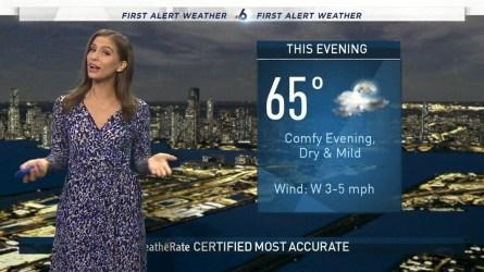 <p>NBC 6 meteorologist Angie Lassman provides a forecast update.</p>