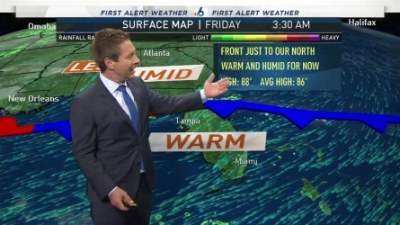 <p>NBC 6 meteorologist Adam Berg provides a forecast update.</p>