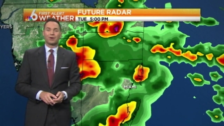 Although it's been a dry start, Ryan Phillips says showers and storms wil fire up in the midday, plus expect a wet weekend.