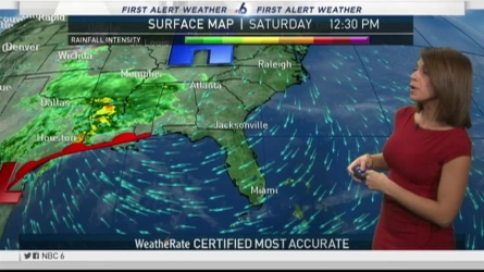 NBC 6 meteorologist Erika Delgado has your latest South Florida weekend forecast.