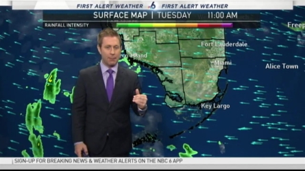 NBC 6's Adam Berg has your First Alert Weather forecast for Tuesday.