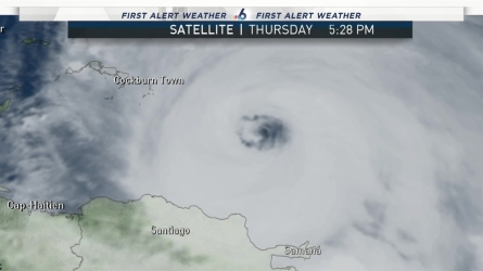 <p>Meteorologist Angie Lassman breaks down the 8pm advisory for Hurricane Maria.</p>