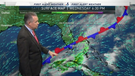 <p>NBC 6 chief meteorologist John Morales provides the evening forecast.</p>
