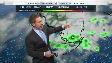 <p>NBC 6's Adam Berg has your First Alert Doppler 6000 Forecast for Monday.</p>