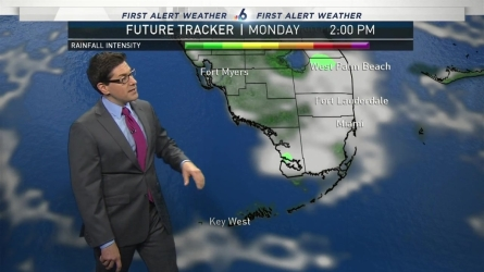 <p>Warm weather will continue today with noticeably more humidity creeping back in to South Florida.</p>