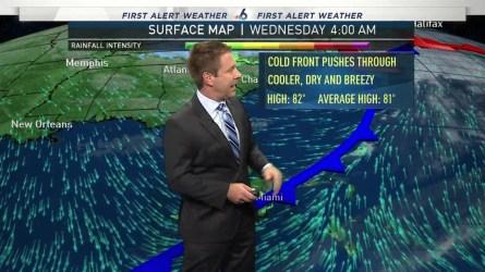 <p>NBC 6's Adam Berg has your First Alert Doppler 6000 forecast for Wednesday.</p>