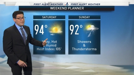 <p>NBC 6 meteorologist Steve MacLaughlin provides a forecast update.</p>