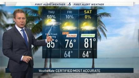 <p>NBC 6's Adam Berg has your First Alert Doppler 6000 Forecast for Thursday.</p>