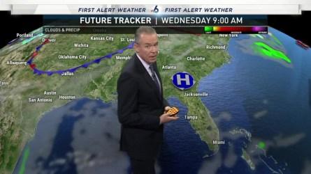 <p>NBC 6 chief meteorologist John Morales has the evening forecast for Monday, Dec. 11, 2018.</p>