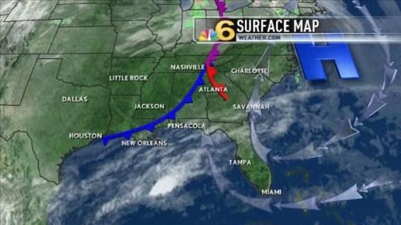 Florida Weather Map.Weather Forecast 6 30 Pm Feb 21 Nbc 6 South Florida
