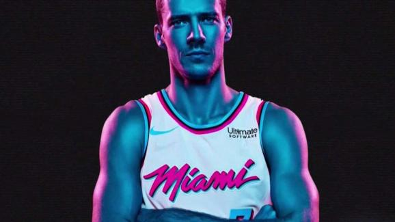 online store 25494 84f2e Miami Heat's New 'Vice' Jersey Tributes Retro Magic City