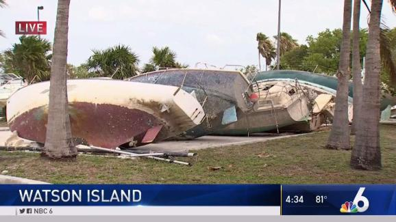 Miami Still Working to Remove Boats Destroyed by Irma