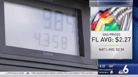 Gas Prices In Florida >> Slight Drop In South Florida Gas Prices This Week Nbc 6 South Florida
