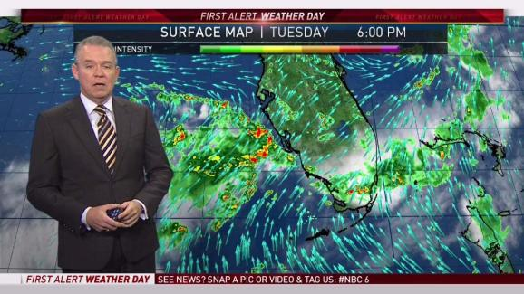 Florida Weather Map.South Florida Weather Forecast 5 15 Pm August 1 2017 Nbc 6