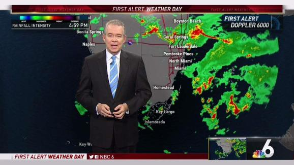Florida Weather Forecast Map.South Florida Weather Forecast 5 Pm April 27 2018 Nbc 6 South